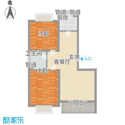 龙泽家园108.00㎡7号楼2房户型2室2厅1卫1厨