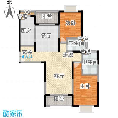 远雄徐汇园125.95㎡E01户型2房2厅2卫125.95㎡户型2室2厅2卫1厨
