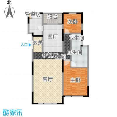 建发珑庭139.00㎡B2户型2室2厅2卫1厨