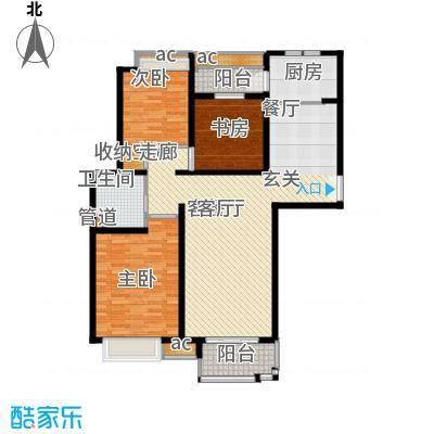 中海万锦城126.00㎡126平2室2厅1卫1厨户型2室2厅1卫1厨