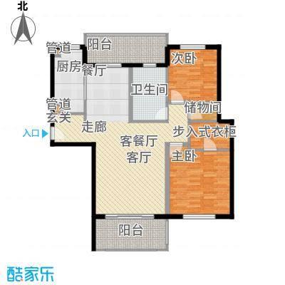 春申景城MID-TOWN111.00㎡户型2室2厅2卫1厨