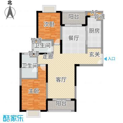 远雄徐汇园125.95㎡F05户型2房2厅2卫125.95㎡户型2室2厅2卫1厨