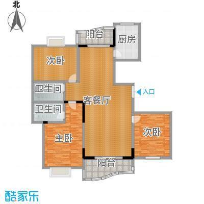天元2005135.46㎡户型3室1厅2卫1厨