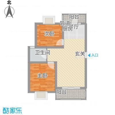 大华梧桐城邦B11户型2室1厅