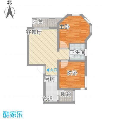 大华梧桐城邦B8户型2室2厅1卫