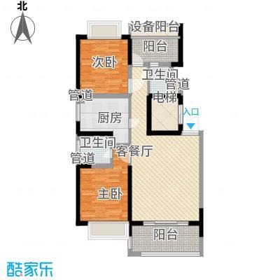 康桥半岛秀溪公寓103.00㎡D1户型2室2厅1卫1厨