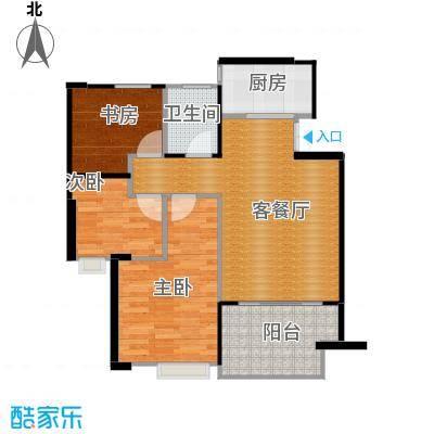 金成江南春城庭院深深89.00㎡C6B户型3室1厅1卫1厨