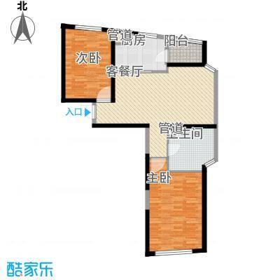 香梅花园五期107.00㎡香梅花园5期f型01户型2室2厅1卫1厨