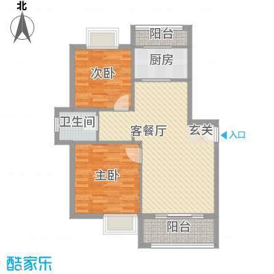 博捷名苑90.00㎡上海户型2室1厅1卫1厨