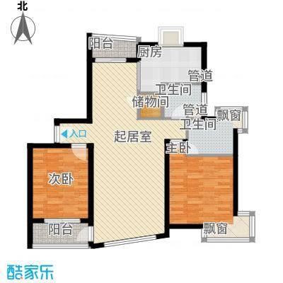 罗山花苑120.00㎡罗山花苑2室2厅2卫0厨户型2室2厅2卫