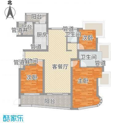 滨江兰庭138.93㎡上海户型2室2厅1卫1厨