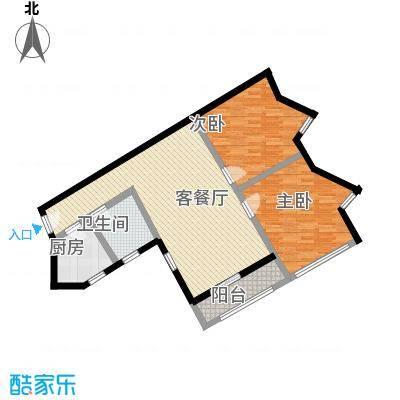 南江公寓105.19㎡南江公寓2室2厅1卫1厨户型2室2厅1卫1厨