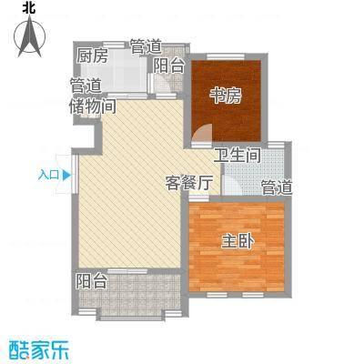 尚东国际名园90.00㎡户型2室2厅1卫