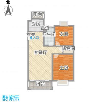 吉利名苑101.03㎡上海户型2室2厅1卫1厨
