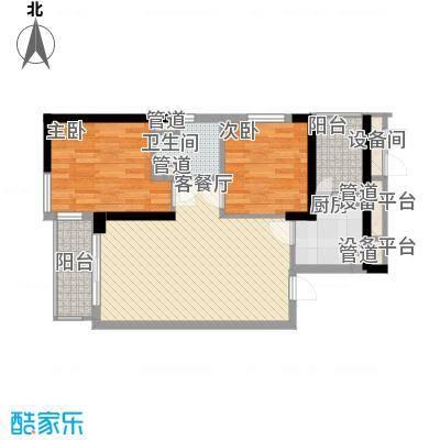 康桥半岛国际公寓81.95㎡B2户型2室2厅1卫