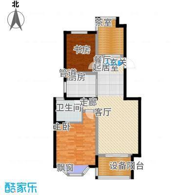 曹路家苑91.93㎡户型2室2厅1卫