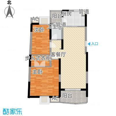 大华锦绣华城公园新纪108.16㎡5B户型2室2厅1卫1厨