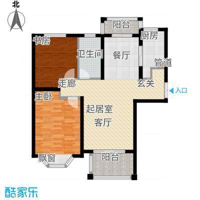 曹路家苑91.62㎡户型2室2厅1卫