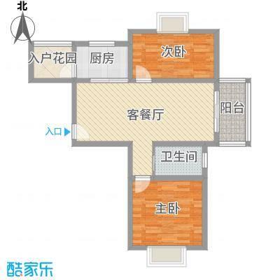 华亭荣园87.00㎡户型2室2厅1卫