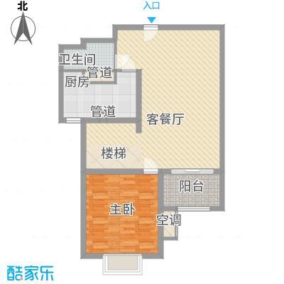华府庄园104.47㎡22/23号楼C1复式一层户型2室2厅2卫1厨