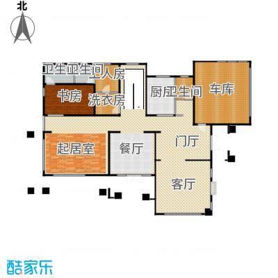 汀香别墅二期408.26㎡13栋一层户型1室1厅3卫1厨