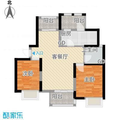 中冶祥腾宝月花园91.62㎡A户型2室2厅1卫1厨