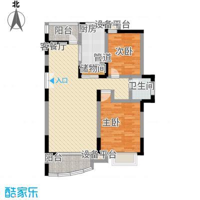 中环锦园107.57㎡上海上海户型2室2厅1卫1厨