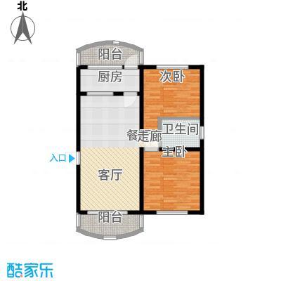 龙阳花苑三期79.05㎡龙阳花苑三期79.05㎡2室2厅1卫1厨户型2室2厅1卫1厨