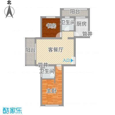 大华颐和华城95.00㎡户型2室2厅1卫