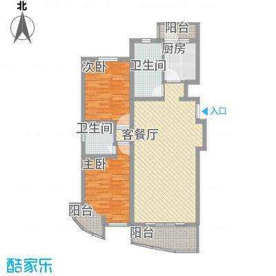 金龙东苑117.39㎡金龙东苑117.39㎡2室2厅2卫1厨户型2室2厅2卫1厨