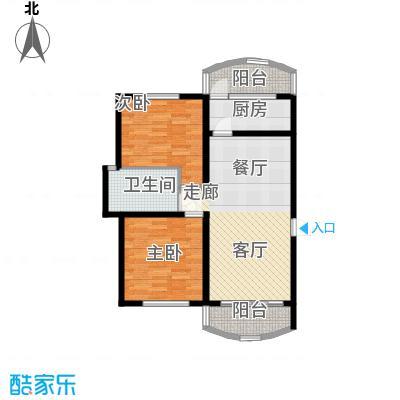 龙阳花苑三期80.05㎡龙阳花苑三期80.05㎡2室2厅1卫1厨户型2室2厅1卫1厨
