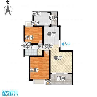 大华阳城五期阳城书院98.00㎡3A户型2室2厅1卫1厨