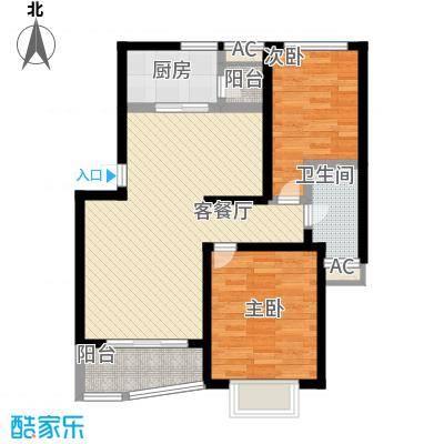 龙馨嘉园90.90㎡上海二期户型2室2厅1卫1厨
