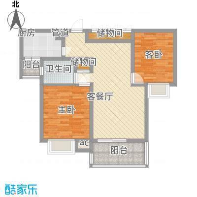 金色西郊城96.00㎡上海户型2室2厅2卫
