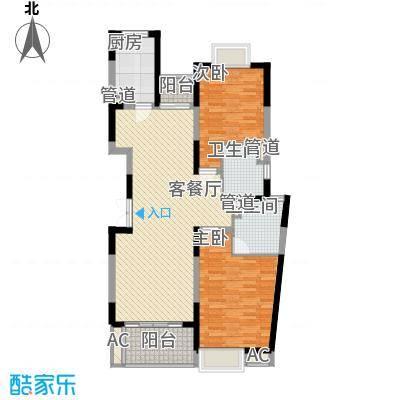 南方城上海三期户型2室2厅2卫1厨