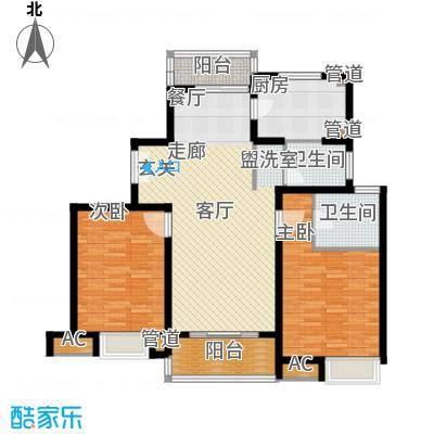 万源城乐斯生活会馆115.00㎡明媚两房115-122平户型2室2厅2卫