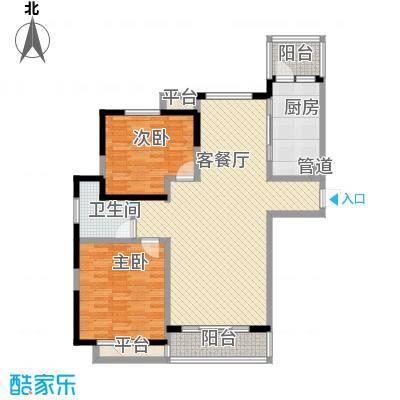 古北新城酩悦166103.71㎡B1户型2室2厅1卫1厨