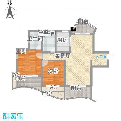 康桥水都115.00㎡上海户型2室2厅2卫1厨