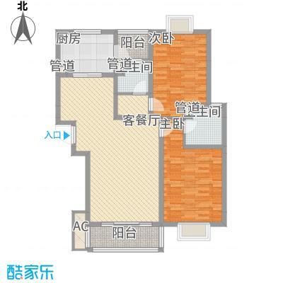 美兰湖颐景园103.26㎡美兰湖颐景园103.26㎡2室2厅2卫1厨户型2室2厅2卫1厨