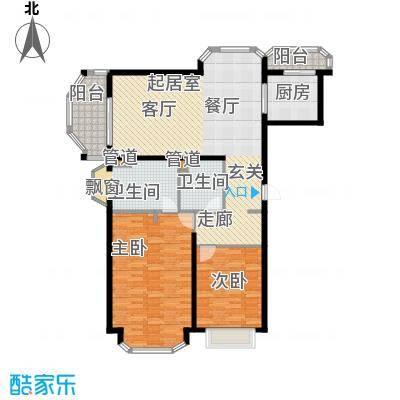 旭辉依云湾别墅128.00㎡户型2室2厅2卫