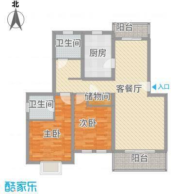 成事高邸115.00㎡成事高邸115.00㎡2室2厅2卫户型2室2厅2卫