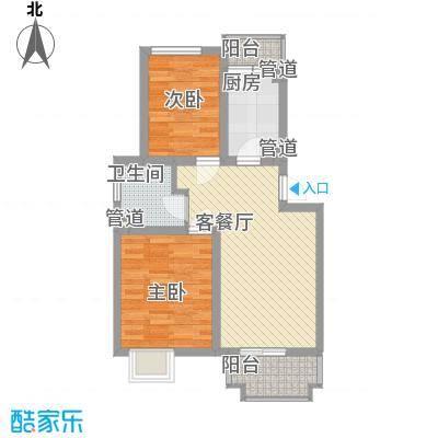 共富新家园73.00㎡上海户型2室2厅1卫1厨