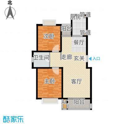 鎏园103.00㎡户型2室2厅1卫