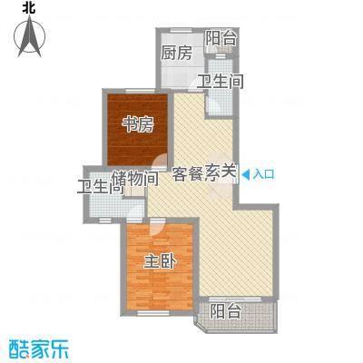 鉴赏新华105.00㎡上海(售完)户型2室2厅2卫1厨