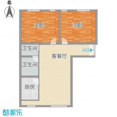巴黎花园125.30㎡上海户型2室1厅1卫1厨