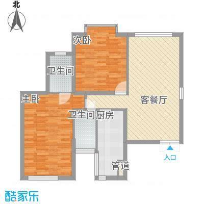 东方剑桥102.12㎡上海户型2室2厅2卫1厨