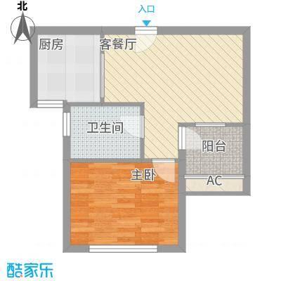 东苑米蓝城55.00㎡上海户型1室1厅1卫1厨