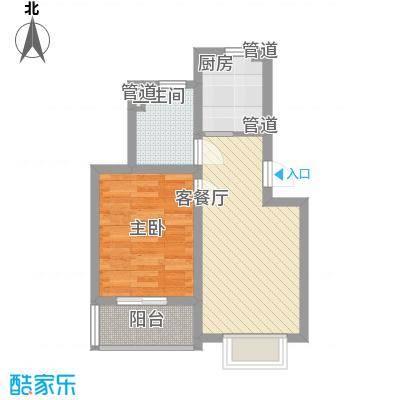 共富新家园56.00㎡上海户型1室1厅1卫1厨