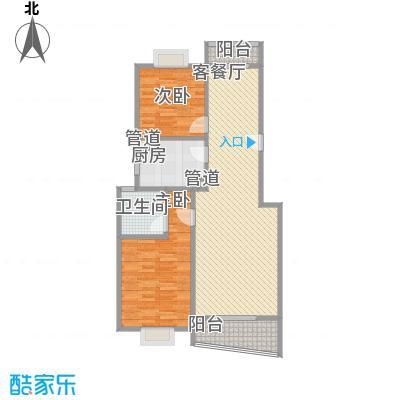 林与堂108.44㎡林与堂108.44㎡2室2厅2卫1厨户型2室2厅2卫1厨