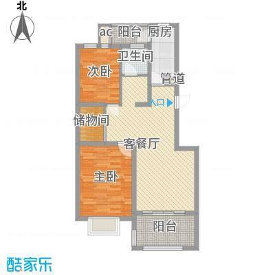 申亚瑞庭92.00㎡7号01、02室户型2室2厅1卫